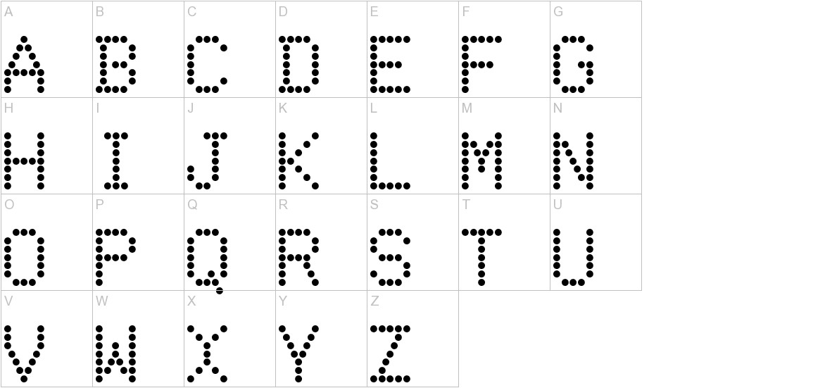 DotMatrix uppercase