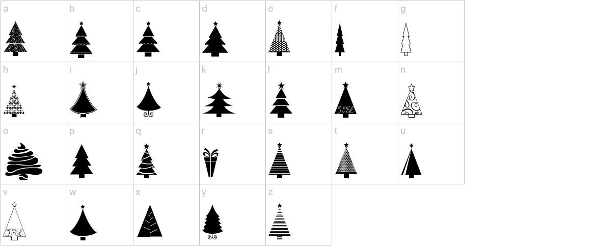 KG Christmas Trees lowercase