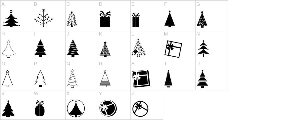 KG Christmas Trees uppercase