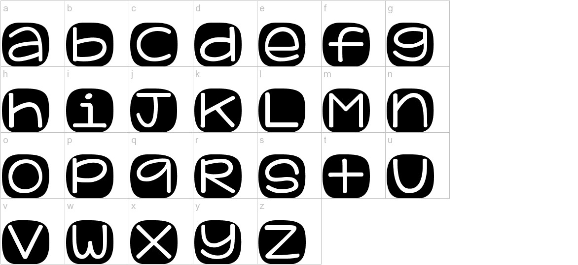KG Geronimo Blocks lowercase