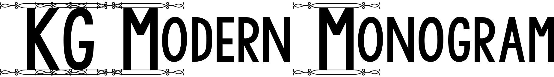 KG Modern Monogram