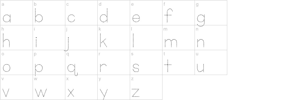 KG Primary Dots lowercase