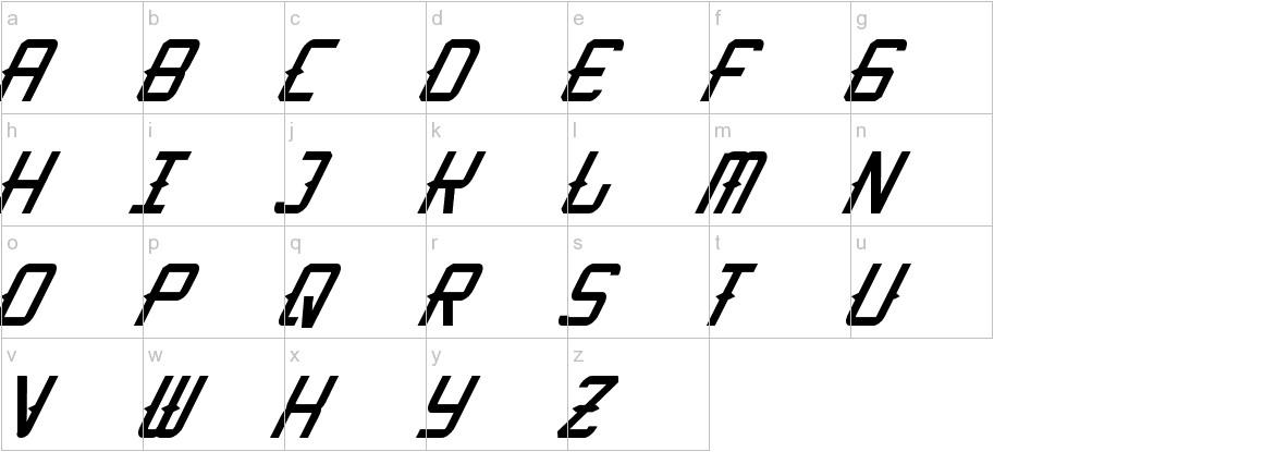 KitchenCowboyItalic lowercase