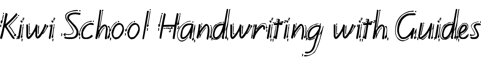 Kiwi School Handwriting with Guides