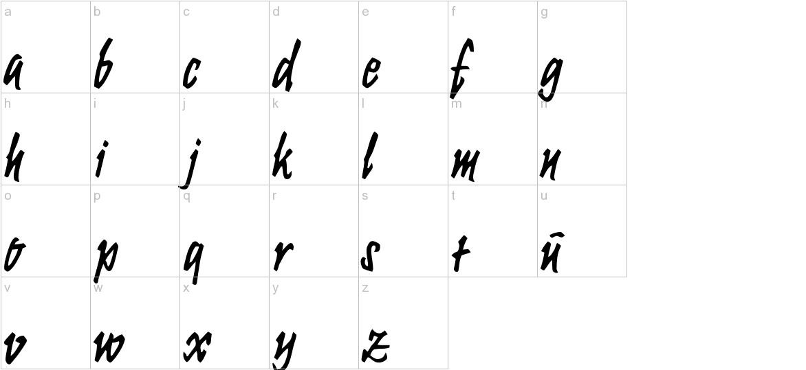 Krugmann Brush lowercase