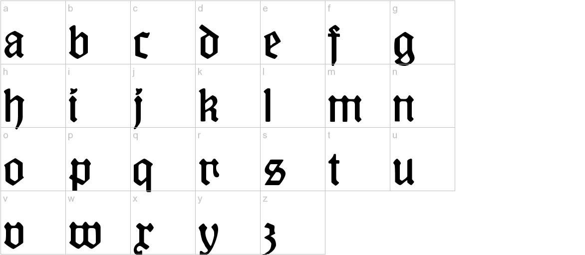 KuenstlerGotisch lowercase