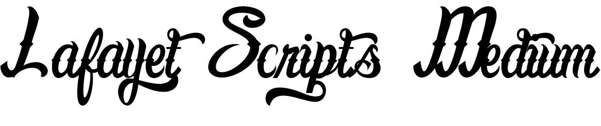 Lafayet Scripts Medium