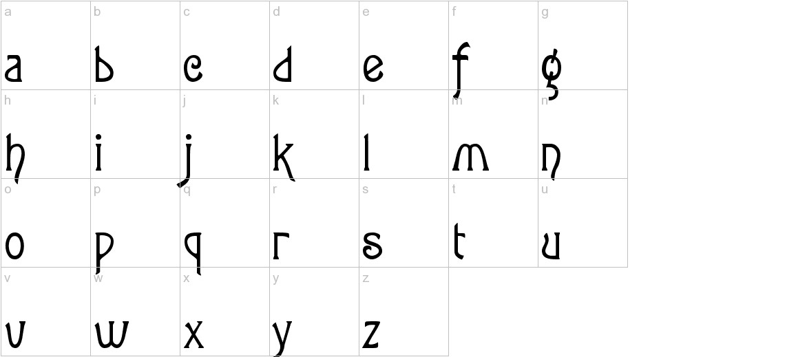 Lansbury FG lowercase