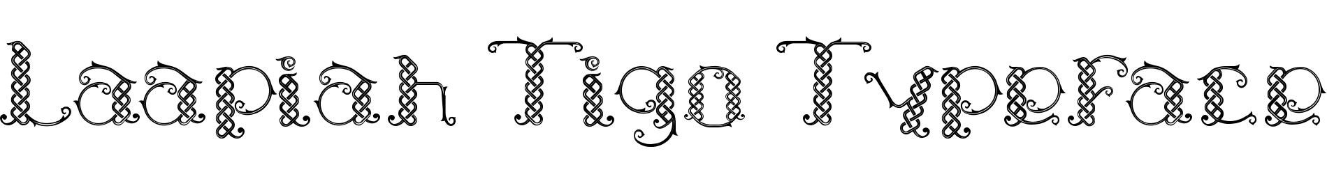 Laapiah Tigo Typeface