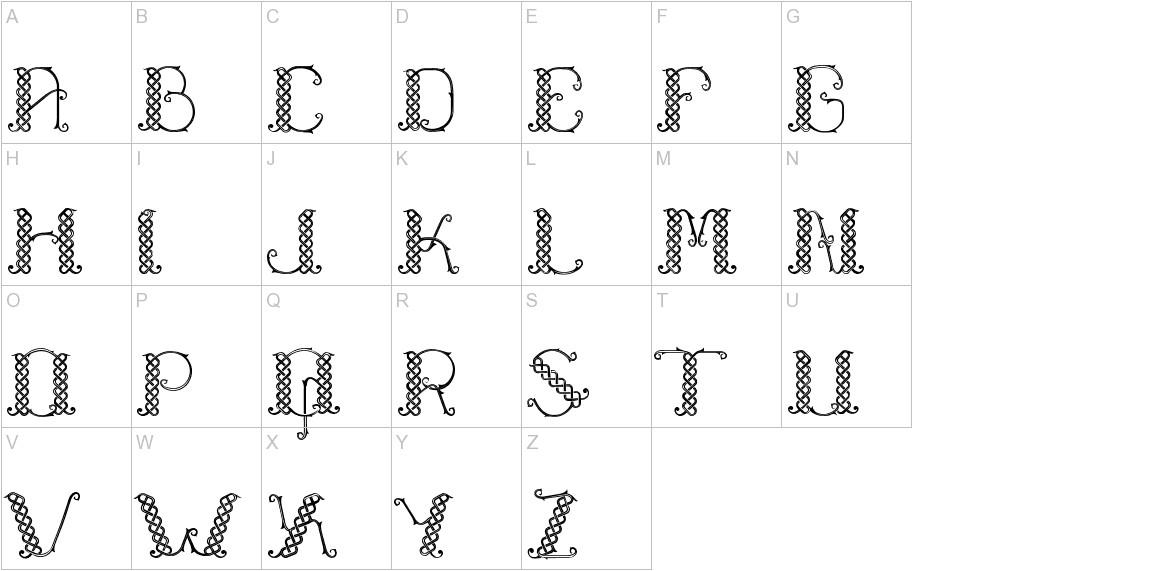 Laapiah Tigo Typeface uppercase