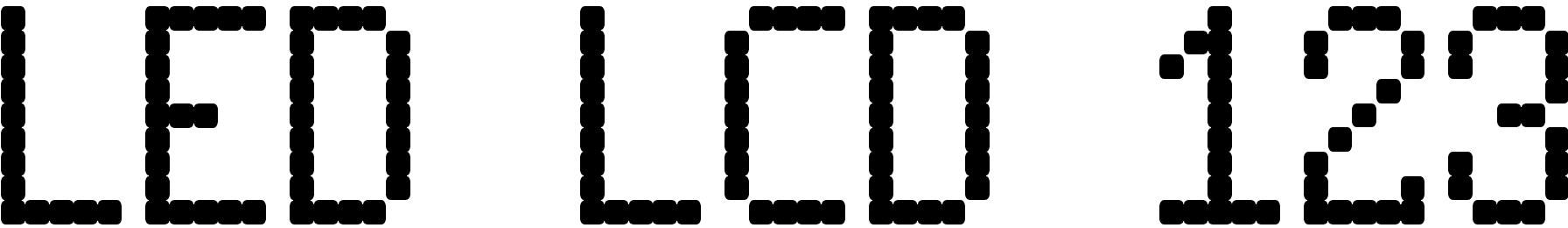 LED LCD 123