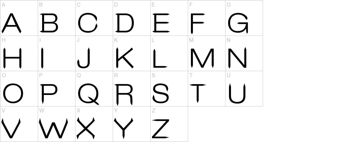 Leo Arrow Sans Serif uppercase