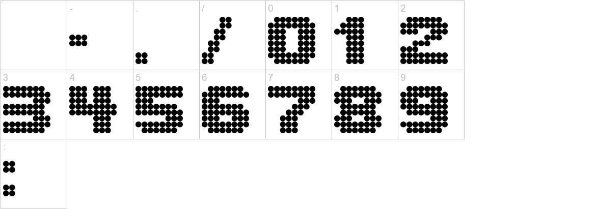 Lightdot 8x8 characters