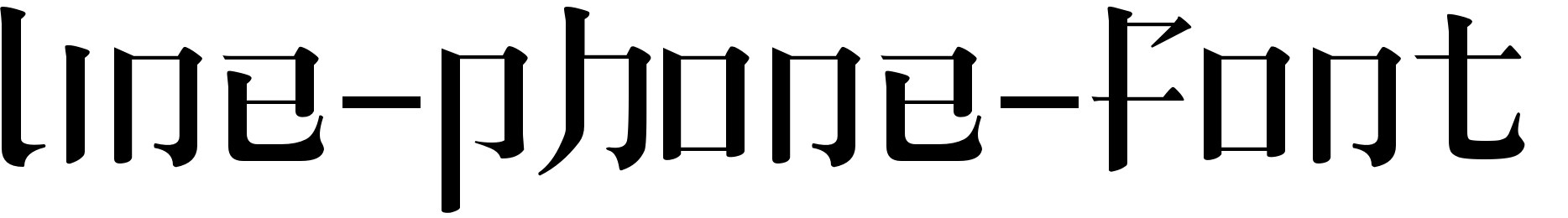 line-phone-font