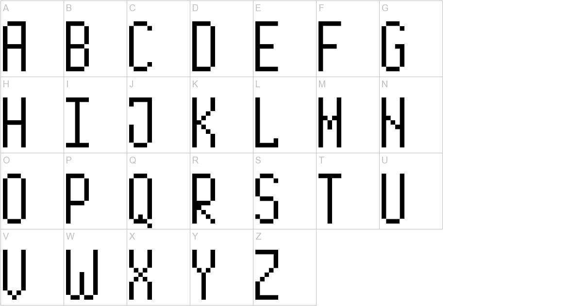 Long Pixel-7 uppercase