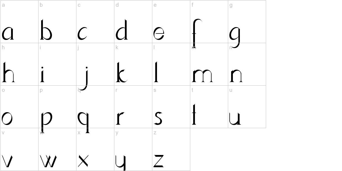 Lynzer lowercase