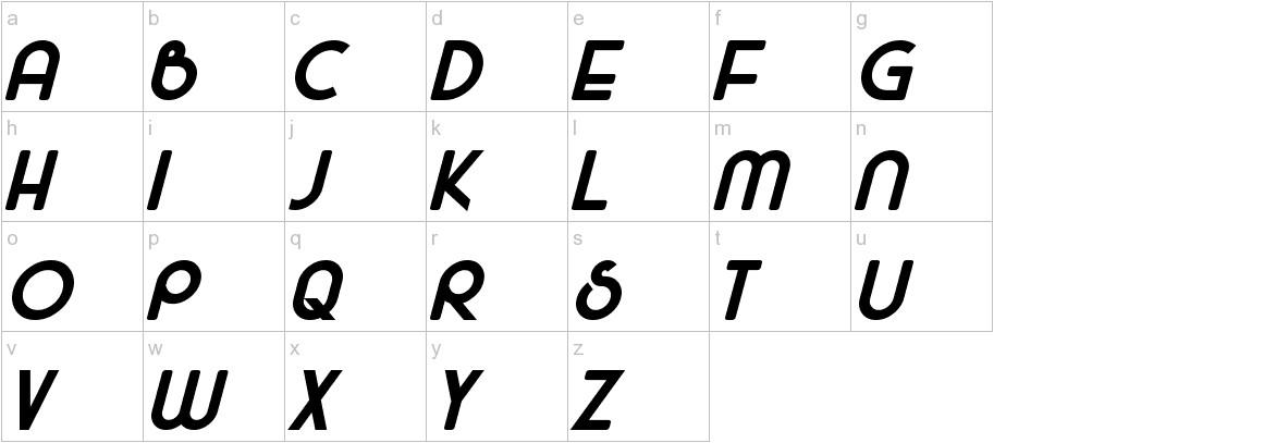 Majel Bold lowercase