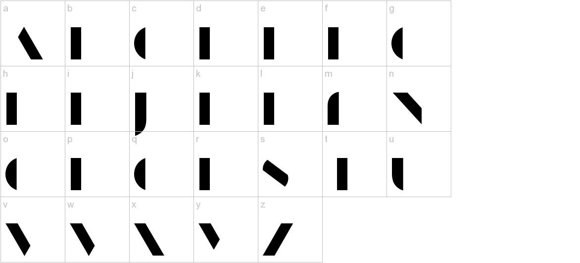 ManbowFill-Regular lowercase