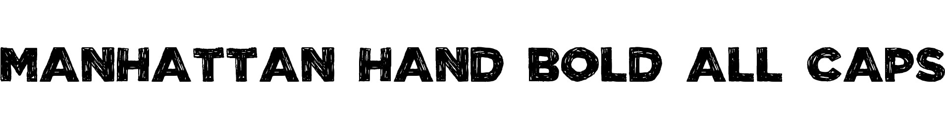 Manhattan Hand Bold All-Caps