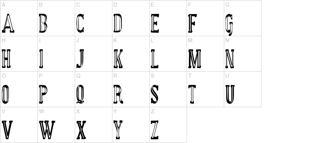 manual font basic uppercase