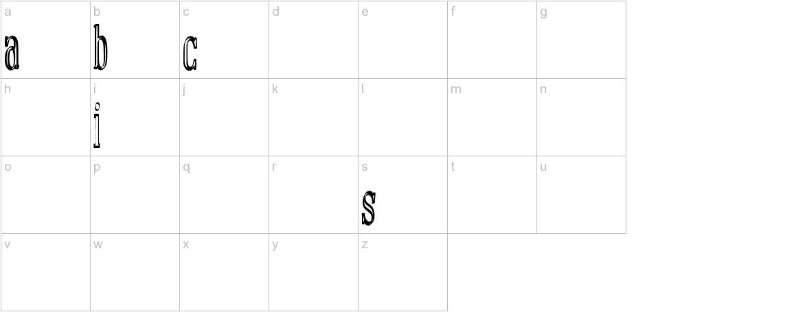 manual font basic lowercase