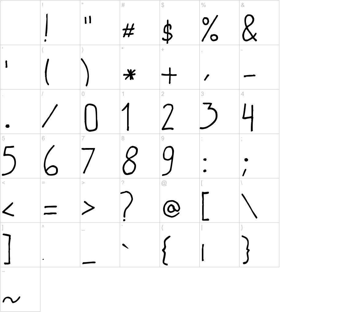 marivi handwriting characters