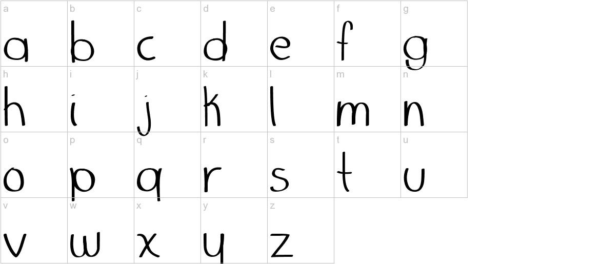Marker Palafotz lowercase