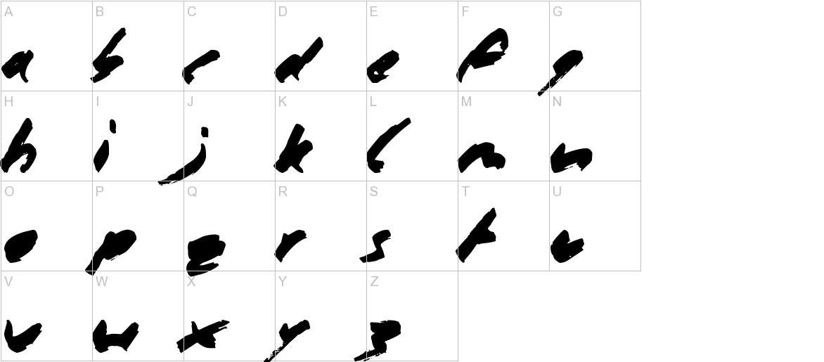 Marker Pen  uppercase
