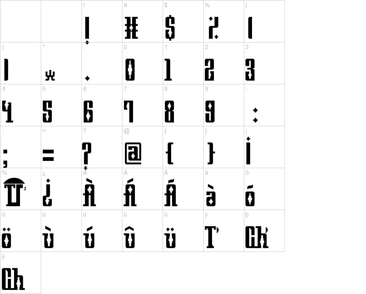 Mayan Square characters