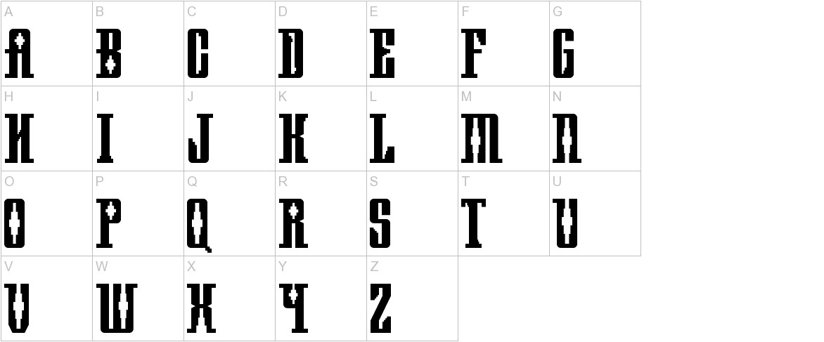 Mayan Square uppercase