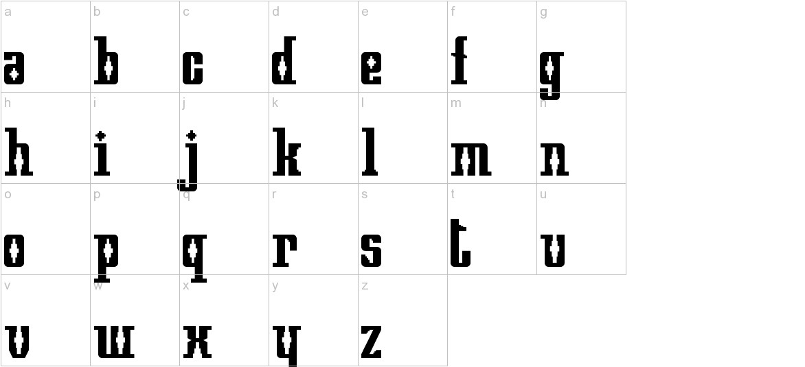 Mayan Square lowercase