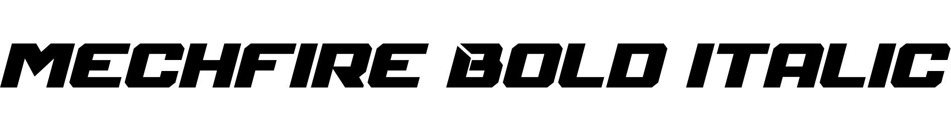 Mechfire Bold Italic