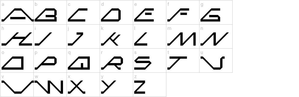 MEGA SLANT LINE lowercase