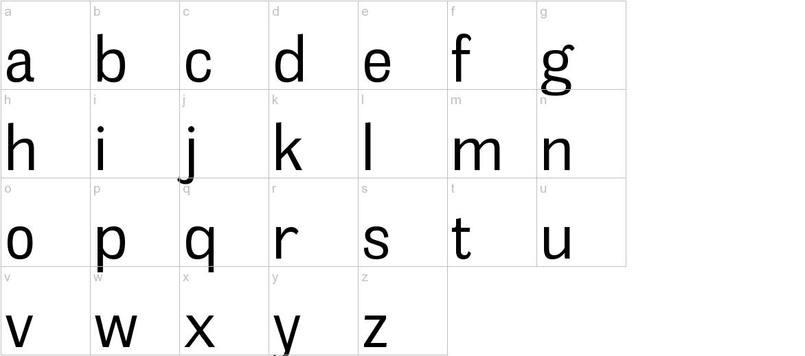 MelocheBk-Regular lowercase