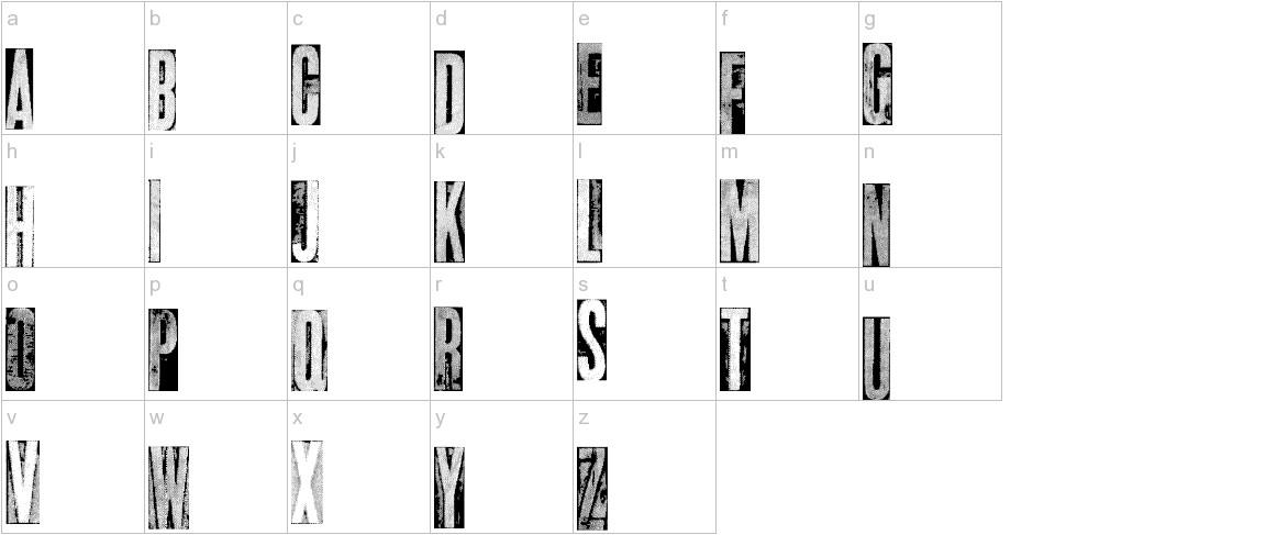 metalblocktango lowercase