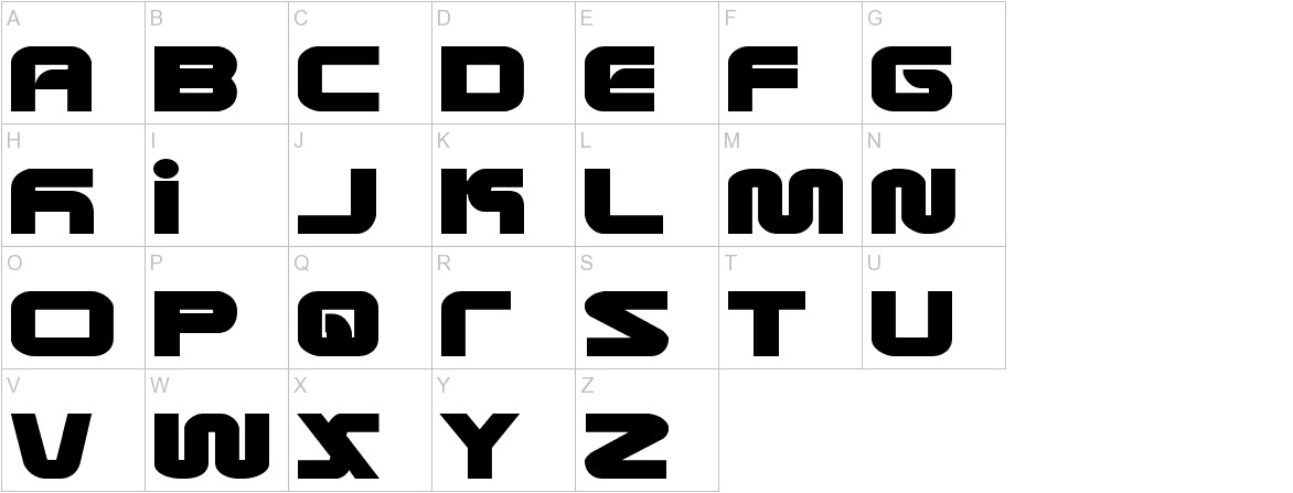 Metronauts Expanded uppercase