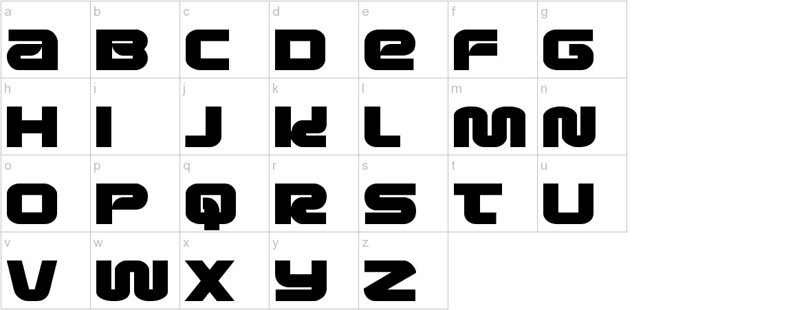 Metronauts Expanded lowercase