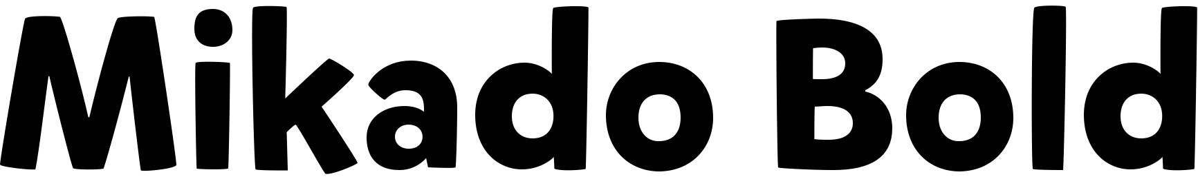 Mikado Bold