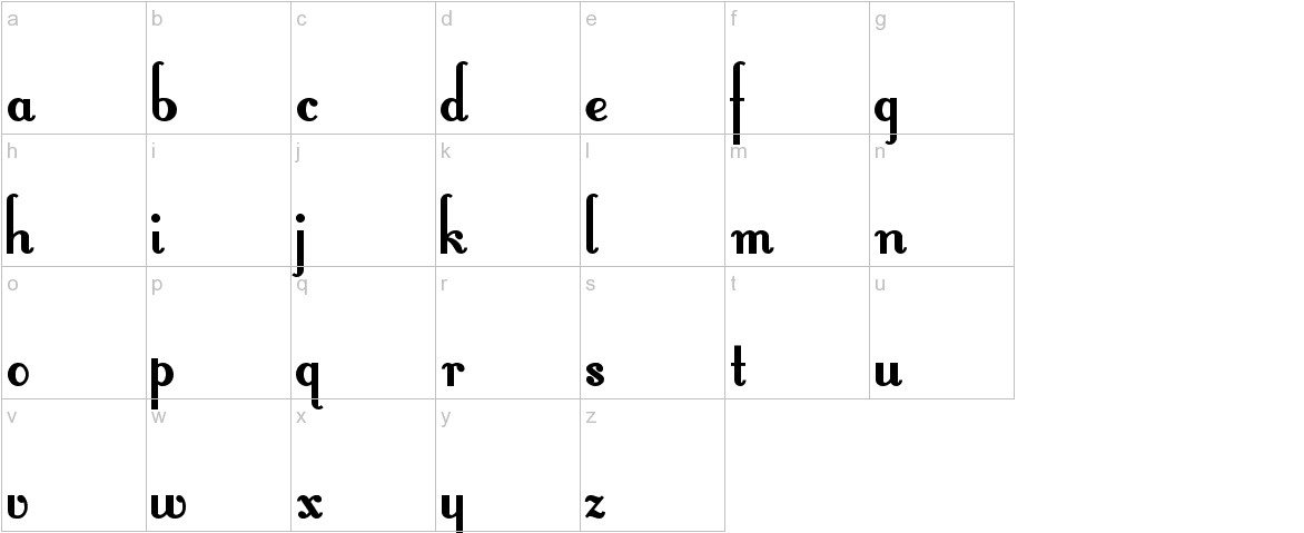 FontleroyBrown lowercase