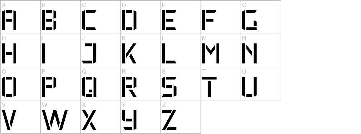 Military Font 7 uppercase