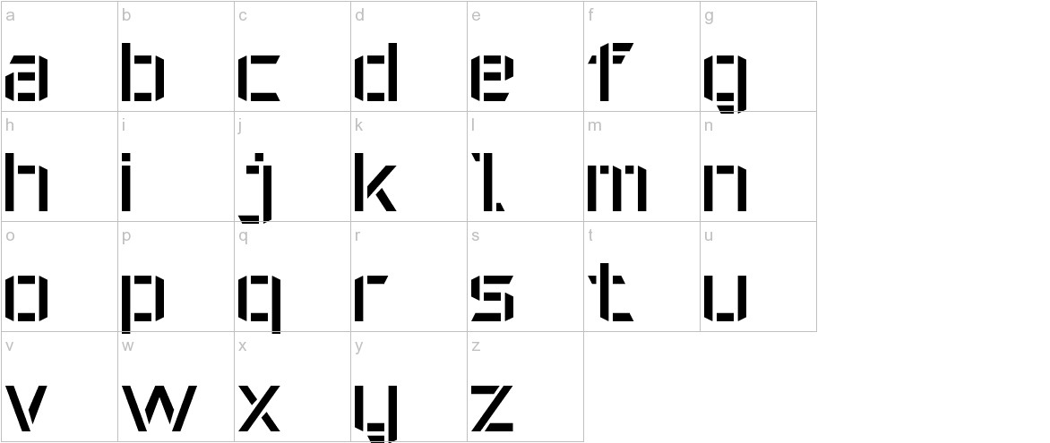 Military Font 7 lowercase
