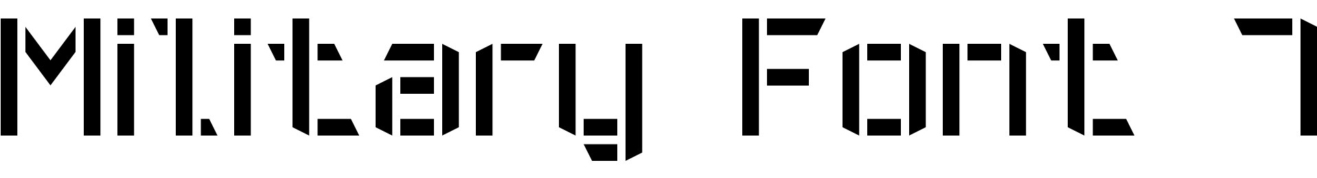 Military Font 7
