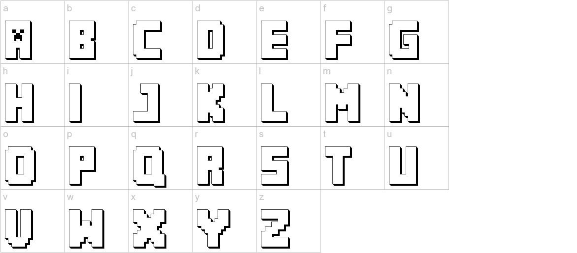 MINECRAFT PE lowercase