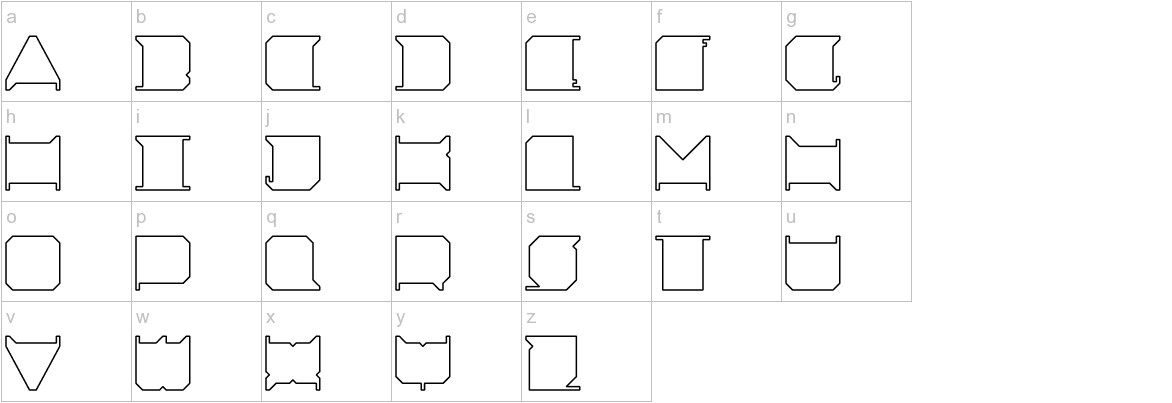 Minimal X lowercase