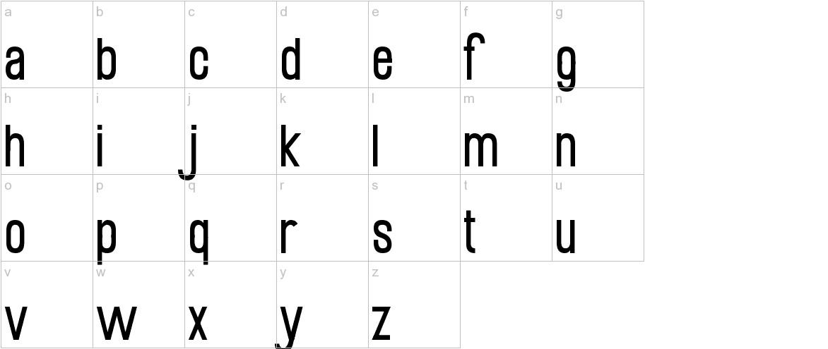 Mobile Sans lowercase
