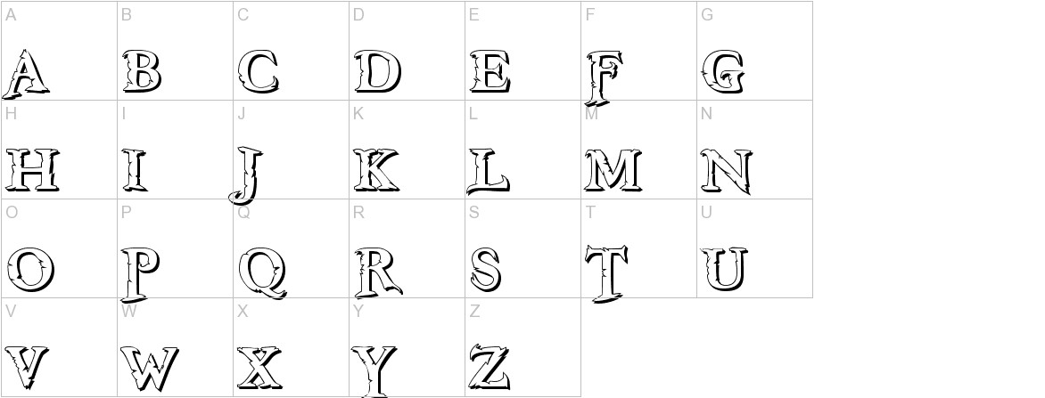 Freebooter Shadow uppercase