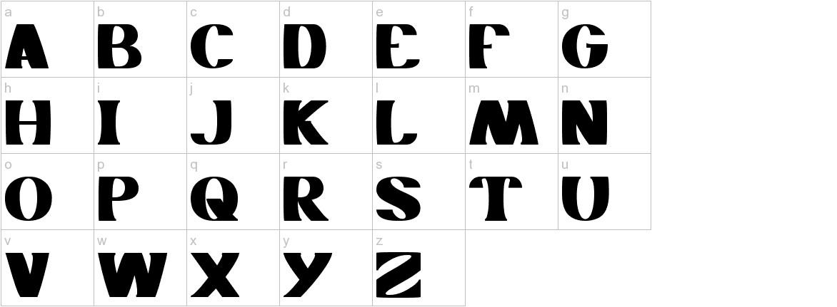MONOCHROME lowercase