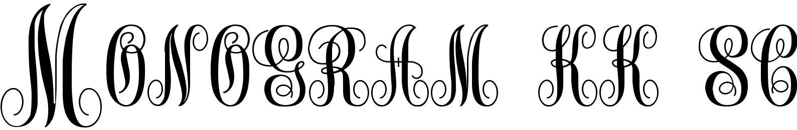 Monogram kk sc