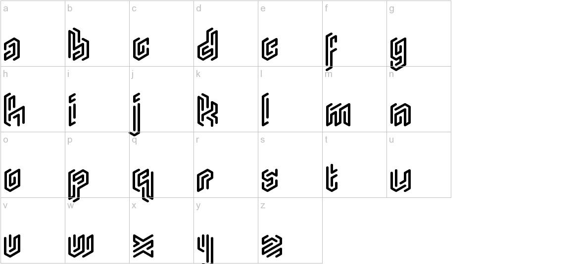 Monogram Rounded lowercase