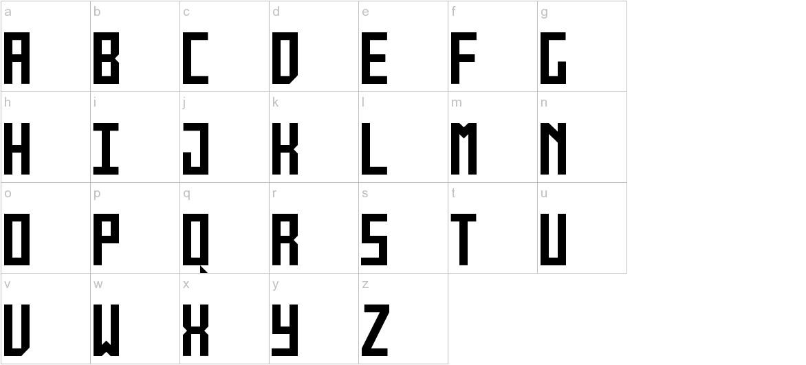 monolyth Monospaced lowercase